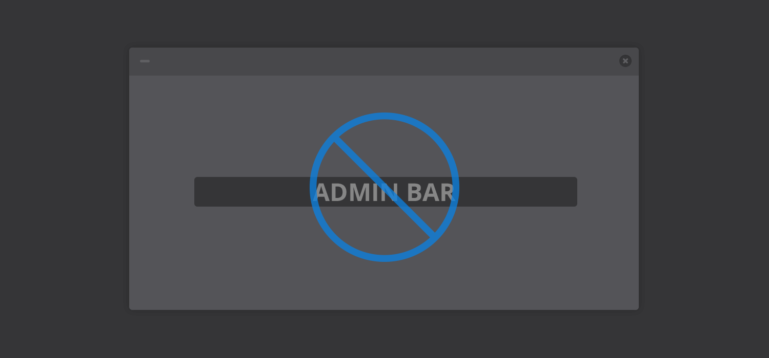 How to disable WordPress Admin bar