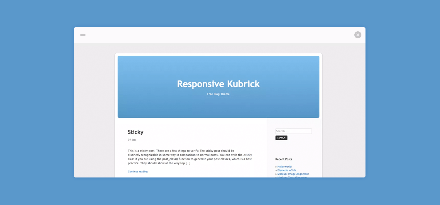 There's a new Kubrick in town, and it's responsive