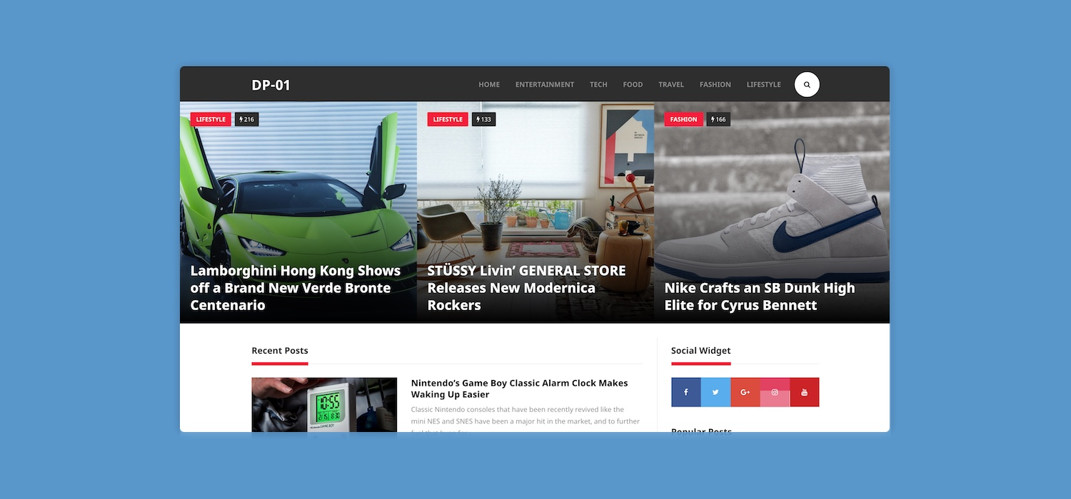DP-01: Free WordPress Magazine and Personal Blog Theme
